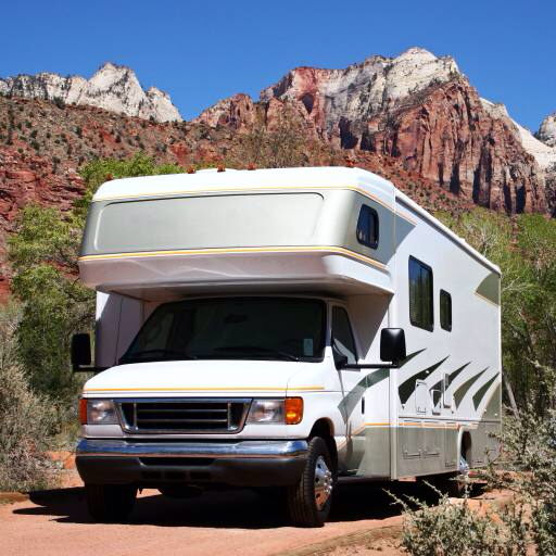 Pixwords the image with trailer car house mountain for Car house