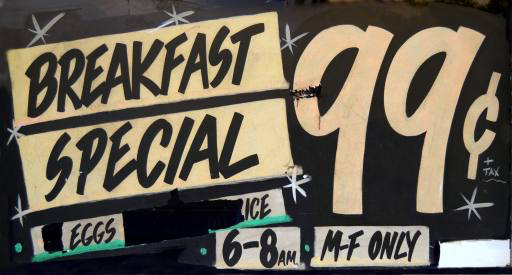 breakfast, special, sign, eggs, only Mrdoomits