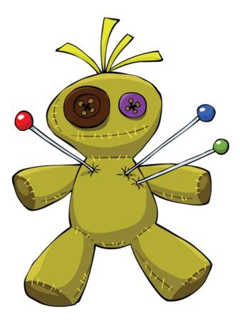 puppet, voodoo, needles, toy, button Dedmazay - Dreamstime