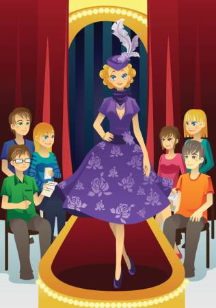 Pixwords The Image With Stage Lady Woman Purple People