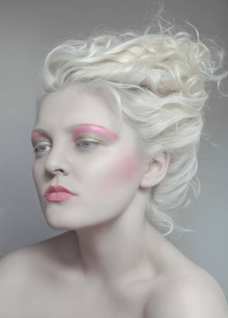makeup, pink, hair, blonde, woman Flexflex - Dreamstime