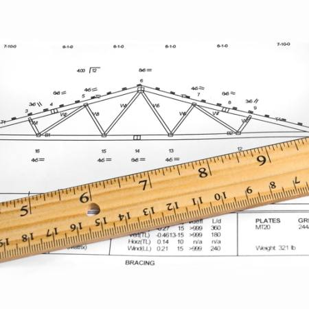 graphic, truss, straight, plates, bracing, numbers,  Wayne Mckown - Dreamstime