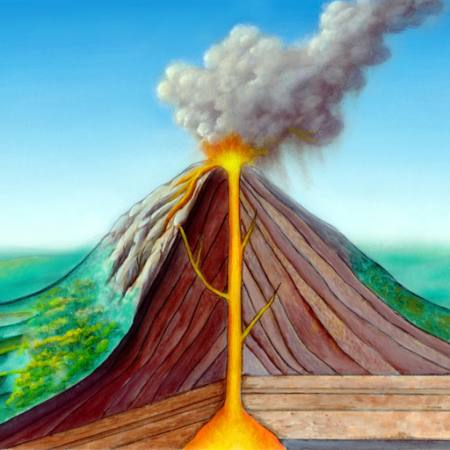 Pixwords The Image With Eruption Cartoon Nature Fire