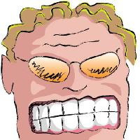 Pixwords The image with teeth, man, glasses, hair, blond Robodread - Dreamstime