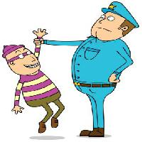 Pixwords The image with police, thief, mask, blue, arrest, man, men zenwae - Dreamstime