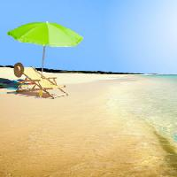 Pixwords The image with sun, umbrella, water, chair, hat, wave Razihusin - Dreamstime