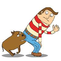 Pixwords The image with dog, man, ass, hello zenwae - Dreamstime