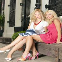 Pixwords The image with girls, women, blonde, blond, dress, hat, sit, bench Mihai Blanaru - Dreamstime