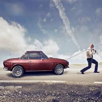 Pixwords The image with car, man, strong, road, red Bowie15 - Dreamstime