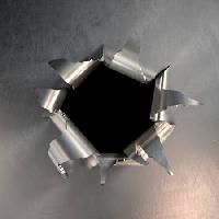 Pixwords The image with hole, bullet, steel James Steidl - Dreamstime