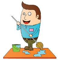 Pixwords The image with clean, water, bucket, mop, man zenwae - Dreamstime