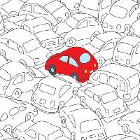 Pixwords The image with red, car, jam, traffic Robodread - Dreamstime