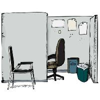 Pixwords The image with office, chair, trash, paper Eric Basir - Dreamstime