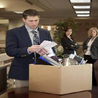 Pixwords The image with office, box, sad, man, women Justnowimages - Dreamstime