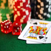 Pixwords The image with cards, dice, money, king Elena Elisseeva - Dreamstime