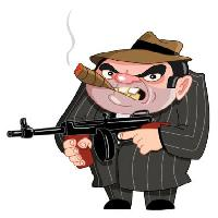 Pixwords The image with gun, mob, criminal, man, smoke Yael Weiss - Dreamstime