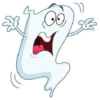 Pixwords The image with scare, scared, ghost, white Yael Weiss - Dreamstime