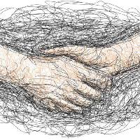 Pixwords The image with hair, hands, drawing, shake Robodread - Dreamstime