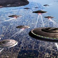 Pixwords The image with war, ships, ship, city, alien, fly, ufo Philcold - Dreamstime