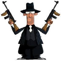 Pixwords The image with mobster, gangster, guns, black Dedmazay - Dreamstime