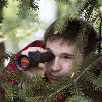 Pixwords The image with man, person, spy, binoculars, tree, trees, nature Jura Vikulin (Jura485)