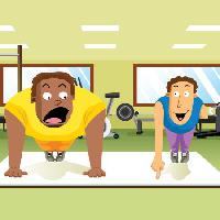 Pixwords The image with workout, sport, healt Zuura - Dreamstime