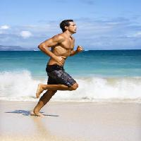 Pixwords The image with beach, water, sea, ocean, man, running, sand, waves Ron Chapple - Dreamstime