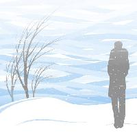 Pixwords The image with winter, snow, person, man, blizzard, tree Akvdanil
