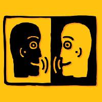 Pixwords The image with speak, people, men, talk, yellow, black Robodread - Dreamstime