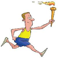Pixwords The image with fire, run, runner, man Dedmazay - Dreamstime