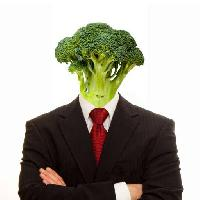 Pixwords The image with vegetable, man, person, suit, vegan, vegetables, broccoli Brad Calkins (Bradcalkins)