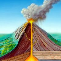 Pixwords The image with eruption, cartoon, nature, fire, smoke Andreus - Dreamstime